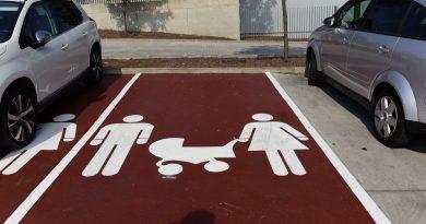 Plazas de aparcamiento para embarzadas y coches que lleven niños