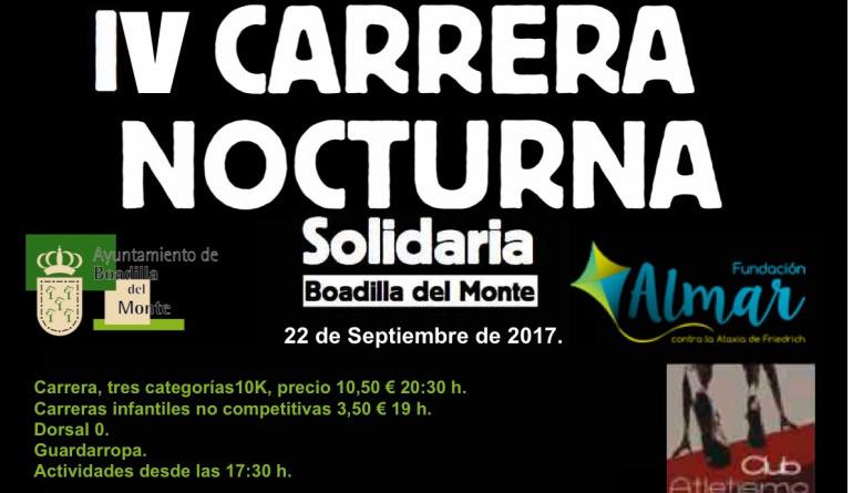 Carrera solidaria nocturna fundación ALMAR