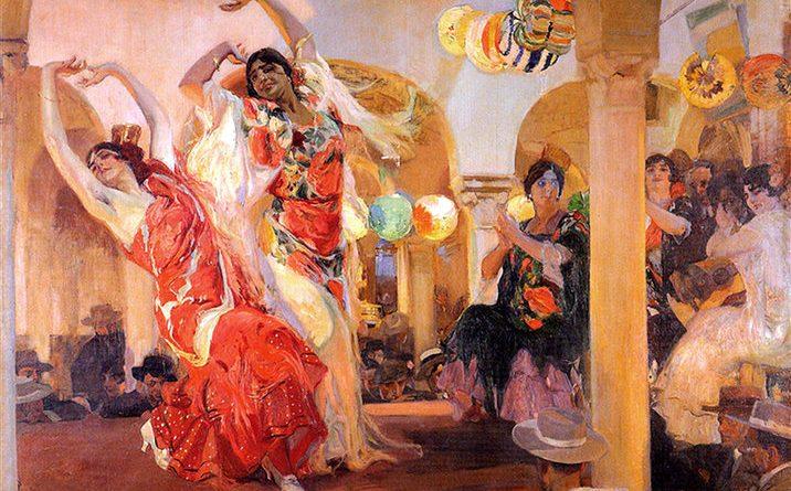 Baile en el Café Mpvedades de Sevilla, de Joaquín Sorolla (1914)