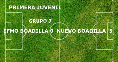 EFMO Boadilla 0 - Nuevo Boadilla 5