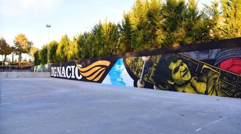 Foto del skate park de Boadilla con alusion a Ignacio Echeverría