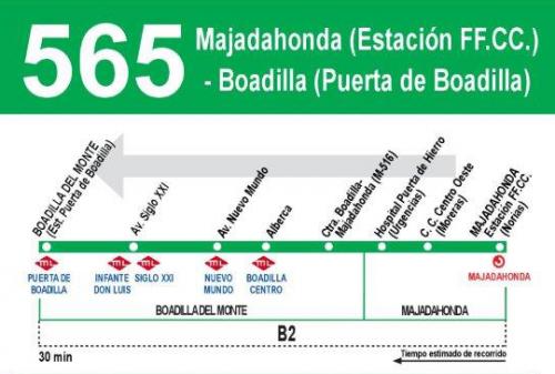 El lunes se inicia el servicio de autobús a Renfe de Majadahonda