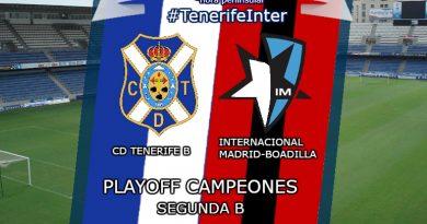 Play off de ascenso a 2ª B CD Tenerife B vs Internacional Madrid-Boadilla