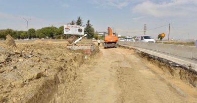 Obras del carril de incorporación de Bonanza a la M-516