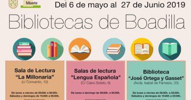 Las bibliotecas abrirán todos los días hasta el 27 de junio