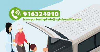 Teleboadilla. Nuevo servicio de transporte adaptado para mayores en situación de vulnerabilidad