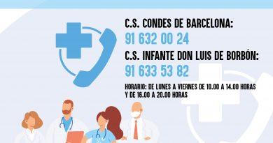 Teleboadilla. Refuerzo en la atención telefónica de los Centros de Salud