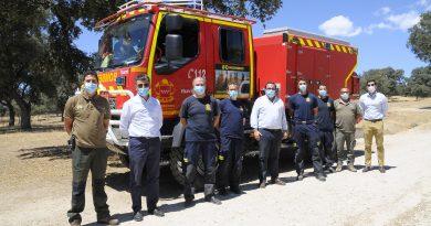 Teleboadilla. Retén bomberos forestales