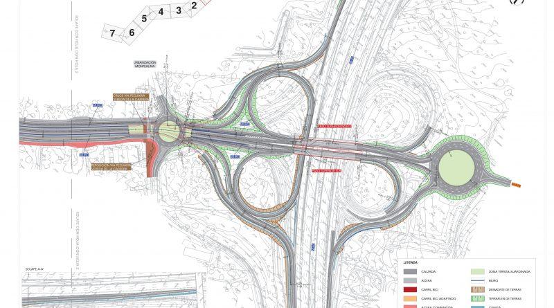 Plano de la alternativa 1 del proyecto de la M-513