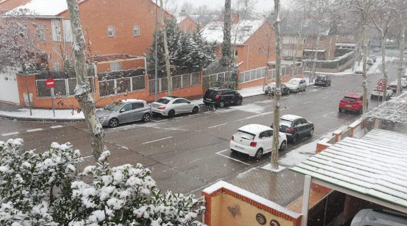Teleboadilla. Calle nevada en Boadilla del Monte