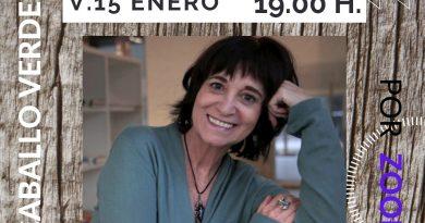 Rosa Montero con la Asociación Caballo Verde