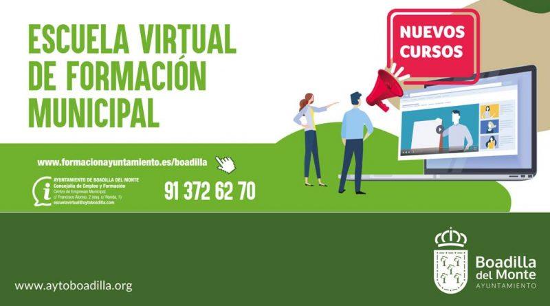 Teleobadilla. La Escuela Virtual de Formación amplía su oferta de cursos gratuitos para empadronados