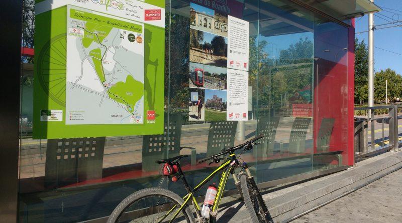 Teleboadilla. Rutas en bicicleta o a pie desde Metro Ligero. Boadilla Centro_Ruta verde