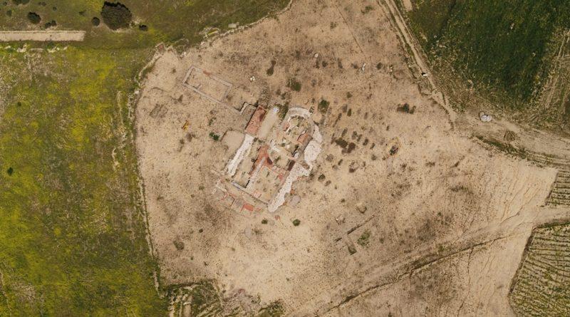 Teleoboadilla. Vista aérea del yacimiento de San Babilés