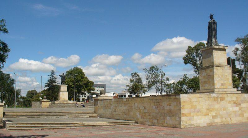 Teleboadilla. Monumento a la reina Isabel La Católica y Cristóbal Colón en Bogotá