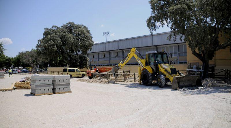 Teleboadilla. Obras en el aparcamiento del polideportivo Ángel Nieto