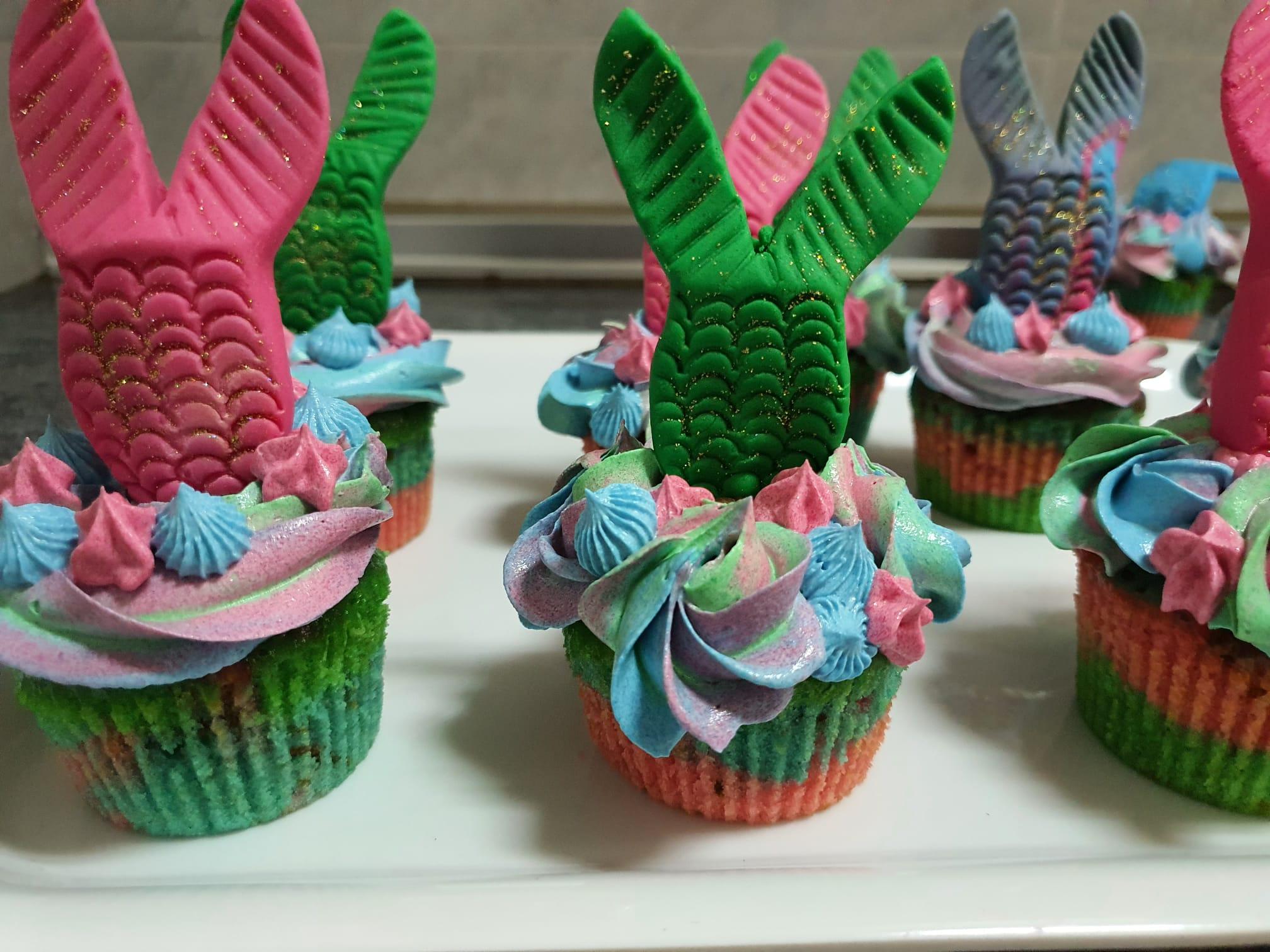 Teleboadilla. Repostería Creativa. Cupcakes de sirenas sin molde